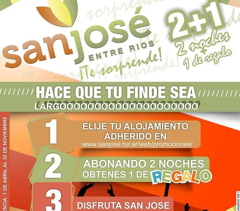 Promoción 2 + 1 en San José