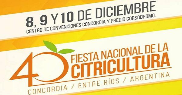 Fiesta Nacional de la Citricultura Concordia 2017