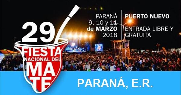 Fiesta Nacional del Mate 2018 en Paraná