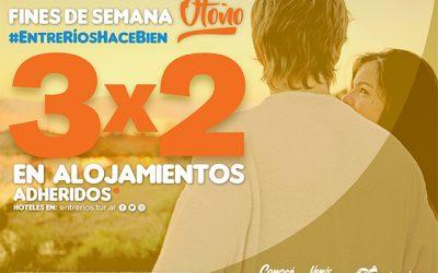 Promo3x2 en Alojamientos de Entre Ríos